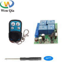 433Mhz Universal Wireless RF Remote Control Switch DC12V 4CH Relay Receiver With 4Buttons Transmitter For Home appliance Control
