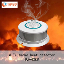 WiFi Smoke+Heat Detector Independent Alarm Wireless Fire Protection Smoke Sensor Home Security Fire Equipment Smart APP Control