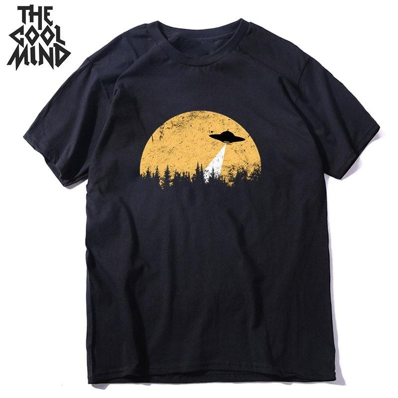 COOLMIND Short Sleeve 100% Cotton Cool Space Men T Shirt Casual Summer Loost Men Tshirt Cool O-neck T-shirt Male Men Tee Shirt
