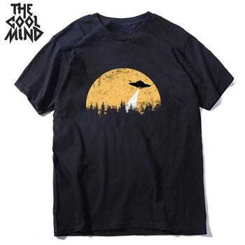 COOLMIND z krótkim rękawem 100 bawełna fajne przestrzeń mężczyźni T koszula w stylu casual letnia loost mężczyźni tshirt fajne o-neck t-shirt męski mężczyzna koszulkę tanie i dobre opinie THE COOLMIND short sleeve Dzianiny COTTON Na co dzień Drukuj