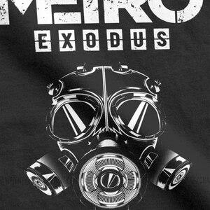 Image 5 - Men T Shirt Metro Exodus T Shirts Gas Mask Toxic Games Gaming Artyom Haunter Short Sleeves Tees Round Neck clothing Pure Cotton