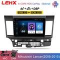 Автомобильный мультимедийный плеер LEHX Android 9,0 для MITSUBISHI LANCER 2007-2012 10,1 дюйма 2 DIN Радио Android видео аудио плеер