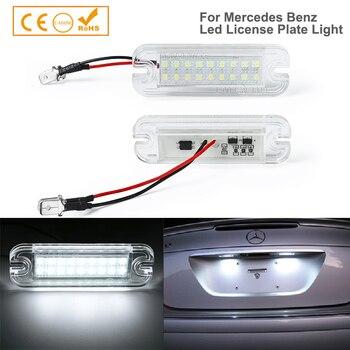 2 uds., luz de matrícula de coche Led, lámpara para Mercedes Benz Clase G W463 G55 G63 G65 AMG G500 G550 para matrícula