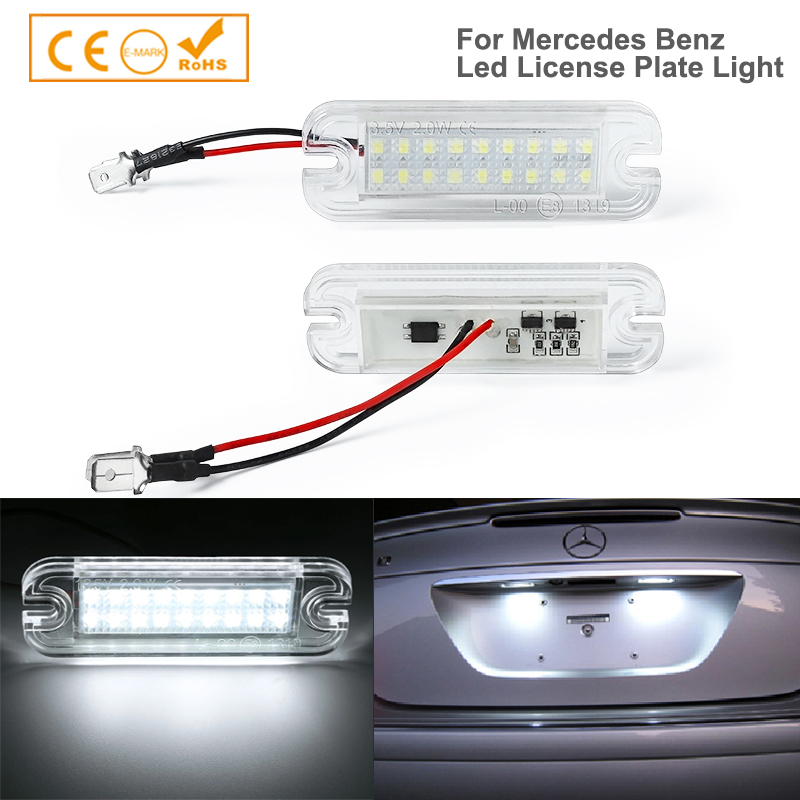 2Pcs Led Number Car License Plate Light Lamp For Mercedes Benz G-Class W463 <font><b>G55</b></font> G63 G65 <font><b>AMG</b></font> G500 G550 Licence Plate Light image