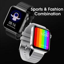2021 M1 Смарт-часы для мужчин и женщин часы ЭКГ IP68 Водонепроницаемый пульсометр мониторинг температуры тела Смарт-часы носимые устройства