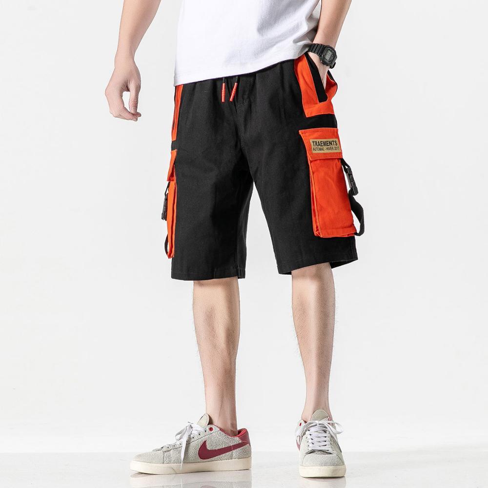 Cargo Shorts Men 2020 Bigger Pocket Korea  Summer New Casual Loose Short Trouers HIP HOP Streetwear Sport
