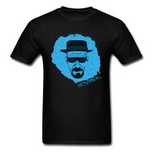 Heisenberg Blue Printed Tshirt All Icon Round Collar Men Tops T Shirt Latest Tops & Tees Wholesale Teen Wolf Sleeve Men T Shirt(China)