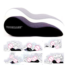 Soft Relaxing Sex Inflatable Pillow Bed Wedge For Adult Couple Love Games Cushion With Electric Pump Flocking Neck Pillows