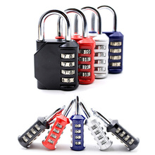 High-quality 95x88x25mm Alloy Heavy Duty 4 Dial Digit Combination Lock Waterproof Security Padlock Outdoor Gym Safely Code Lock цена 2017