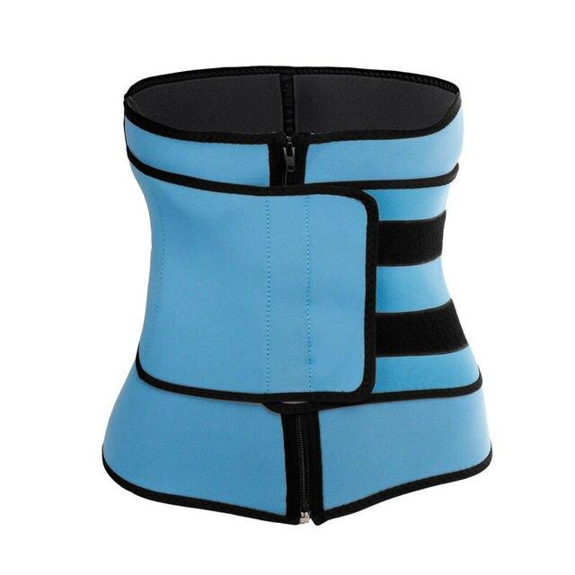 Stomach Slimming Hot Exercise Belts Fat Burner Waist Body Shaper Fashion Zipper Bandage Tight Belts Sports Slimming Body Belts 2
