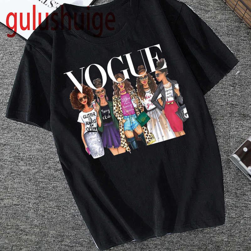 Vogue Princess Kawaii Harajuku T Shirt Women Ullzang Cute T-shirt grunge