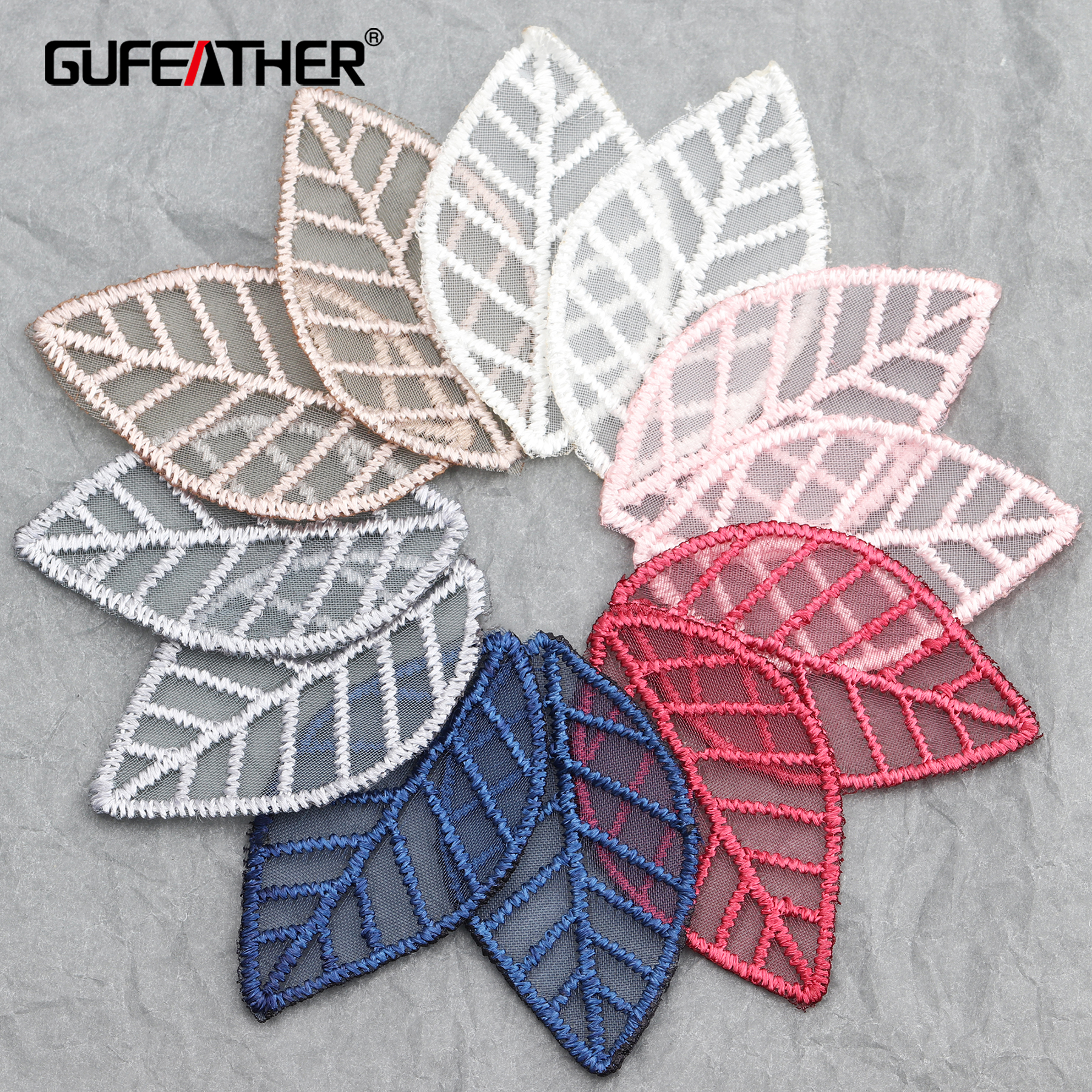 GUFEATHER L218,jewelry Accessories,diy Pendant,leaf Shape,knitted Patch,jewelry Findings,hand Made,jewelry Making,20pcs/lot
