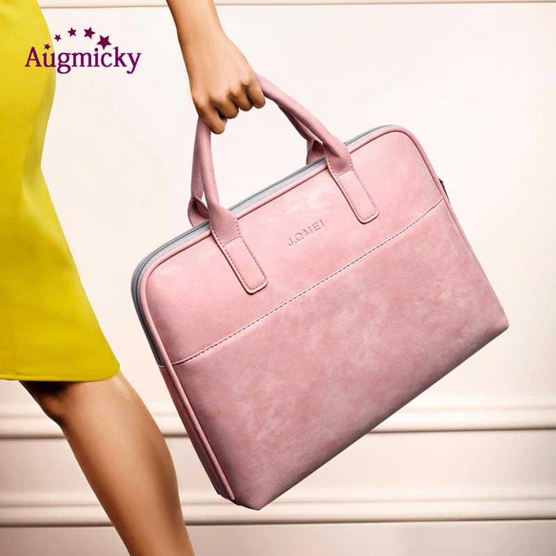 2019 بو الجلود حقيبة لابتوب الكتف حقيبة ساعي 13 14 15.6 بوصة النساء يد كم حملها دفتر جراب للماك بوك برو الهواء