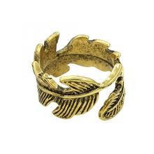 Moda Vintage para mujer decoración de forma de pluma anillo de aleación accesorio de joyería perfecto barato buen regalo para amantes o amigos