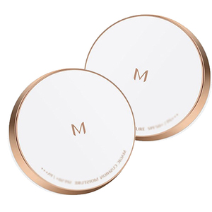 Image 1 - 2Pcs MISSHA Magic Cushion Moisture (#21 + #23) Whitening air cushion BB cream Foundation Makeup Sunscree Korea cosmetic