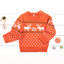 Christmas Baby Boys Girls Sweaters Winter 2019 Toddler Clothes With Deer Kids Sweater Embroidery Pull Fille Tops