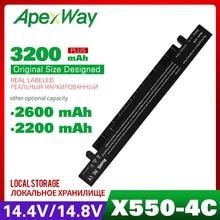 Apexway A41-X550A A41-X550 Battery For Asus A450 X550L A550 a41 x550a F550 F552 X450 X550 X550A X550CA X550C K550 P450 P550 R409 все цены