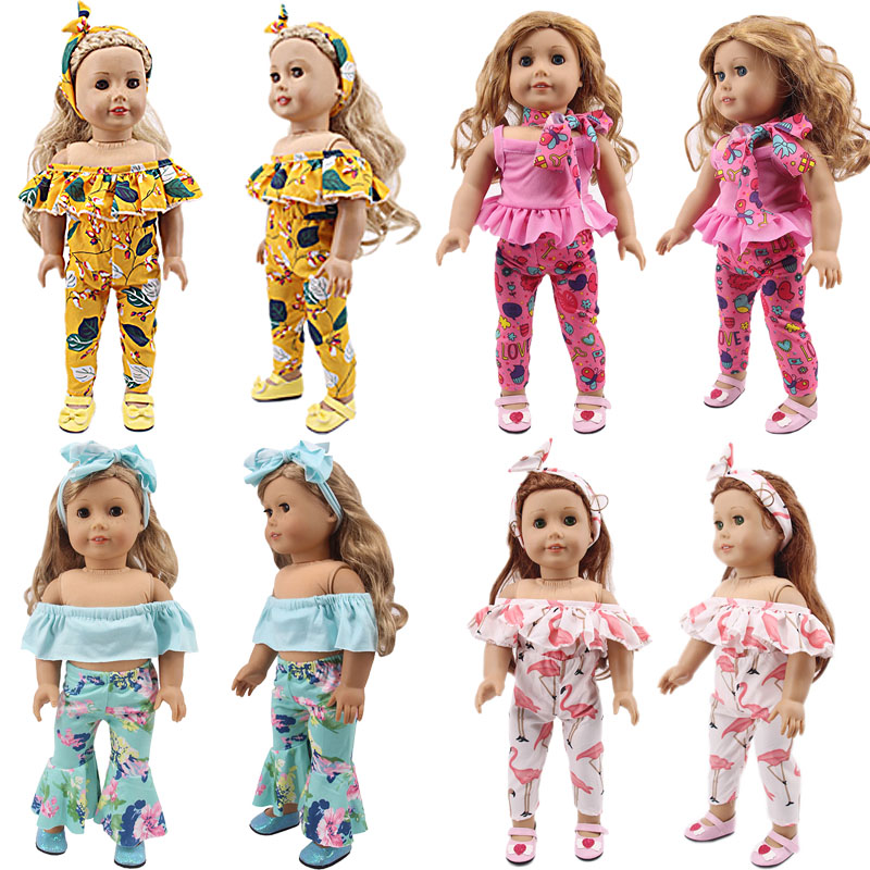 Doll Clothes Fashion Set=Headband+Onesies Fit 18 Inch American&43 Cm Born Baby Our Generation Birthday Girl's Toy Gift