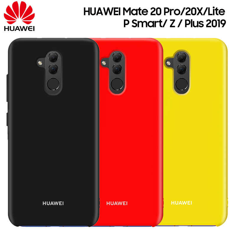 Huawei Mate 20 Lite Case Original Huawei Mate 20 Pro 20X X  P Smart Z 2019 Case Liquid Silicone Soft Shockproof Back Cover