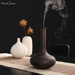 THANKSHARE Humidificador Ultrasonic Air Humidifier for Home Aromatherapy Essential Oil Diffuser Wood Grain Maker Mist For Home