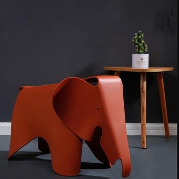 Креативный Детский слон-стул фотостудия модная модель детский сад Защита окружающей среды пластиковый цвет животных слон