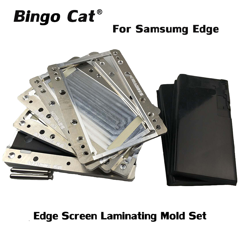 Vacuum Laminating Mould Curved Edge Screen Mold Set For Samsung Galaxy Note 10 Plus N970 N975 Note 8 9 OCA Alignment Refurbish