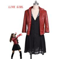 New The Avengers Scarlet Witch Wanda Maximoff Cosplay Costume Superhero Scarlet Witch Costume Halloween Costume for Women