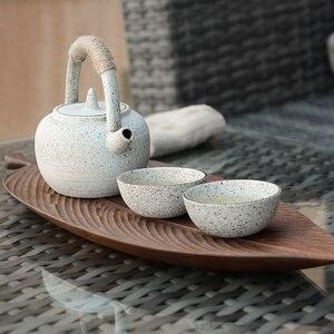Image 2 - Musowood Wooden Leaf Tray For Tea Set Cup Fruit Snake Dessert Home Decoration For Hotel Office Black Walnut Leaves Plate Sample