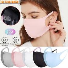 5 pces unissex cor sólida algodão máscara protetora proteção da poluição do ar máscara respirável lavável máscara de boca reutilizável # m