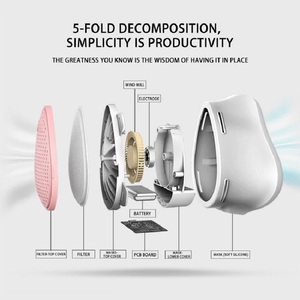 Image 5 - Air Purifier Respirator Electric Mask Dustproof Portable Oxygen Machine Mouth Mask Face Protective Mask Filter Dust Mask