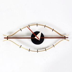 Image 5 - 3d 단일 얼굴 나무 벽 시계 장식 침묵 현대 디자인 아이 시계 석 영 홀더 벽 시계 아트 벽 시계 골동품