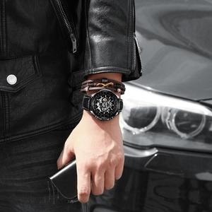 Image 4 - WINNER Official Automatic Watch Men Military Skeleton Mechanical Watches Genuine Leather Strap Luxury Dress Mens Wristwatches