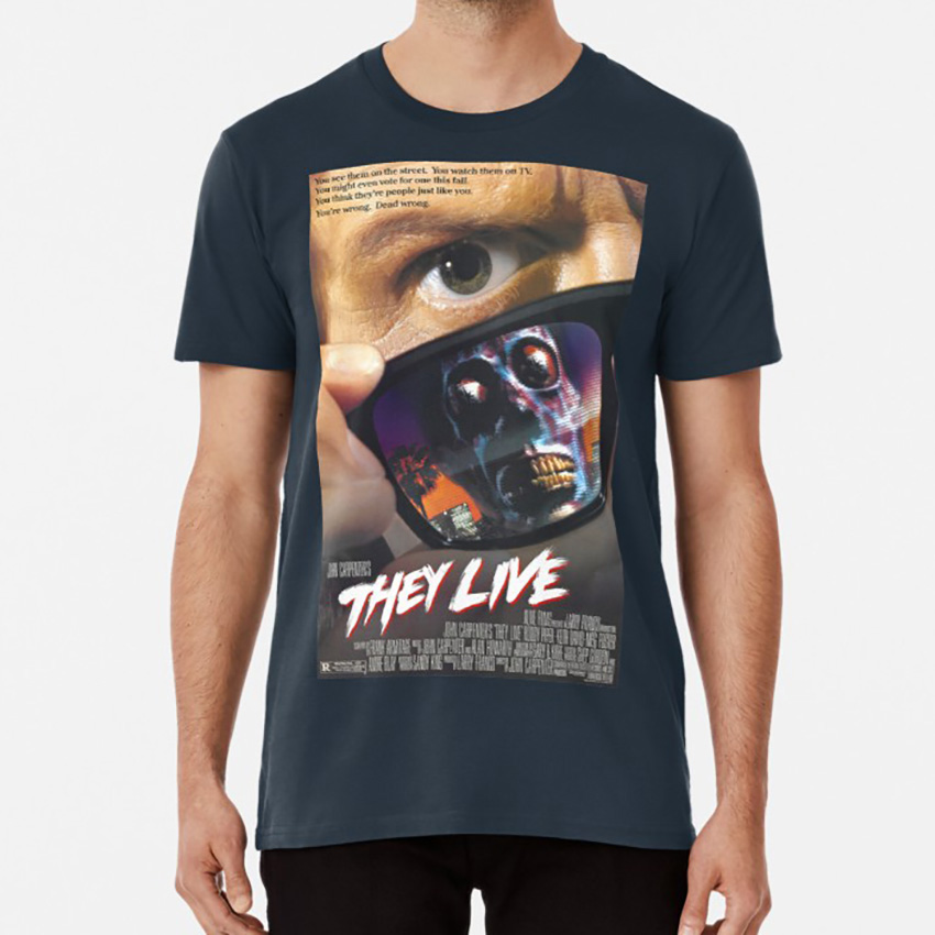 They Live! T shirt sci fi movie film b movie aliens carpenter horror scary weird science fiction Oversized Asian Size S~5XL image