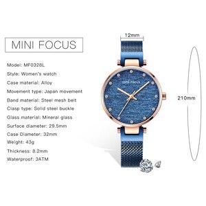 Image 5 - MINI FOCUS Women Watches Brand Luxury Fashion Casual Ladies Wrist Watch Waterproof Blue Stainless Steel Reloj Mujer Montre Femme