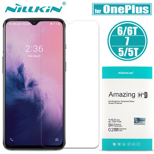 Image 1 - Oneplus 7T/7/6T/6/5T/5/3 Tempered Glass Nillkin 9H Hard Clear Safety Glass Screen Protector for Oneplus 7T 7 6T 6 5T 5 3 Film