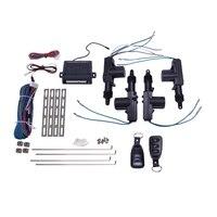 Atuador universal do fechamento da porta de energia do carro 12 volt motor (4 pacote) controle central remoto do carro que trava o sistema keyless da entrada|Capa de proteção para fechadura| |  -