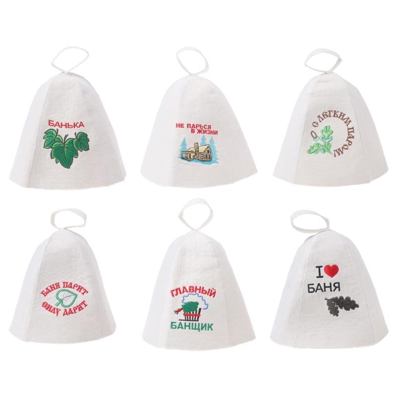 Wool Felt Sauna Hat Anti Heat Russian Banya Cap For Bath House Head Protection wholesales