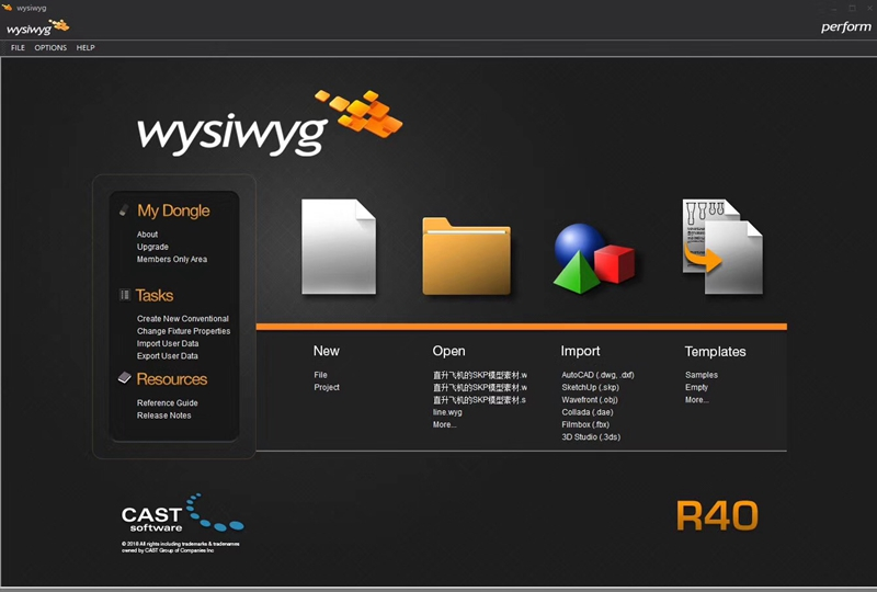 Lighting DJ Software Interface Moving Head Light Good For Party Disco WYSIWYG R40 Perform Dongle