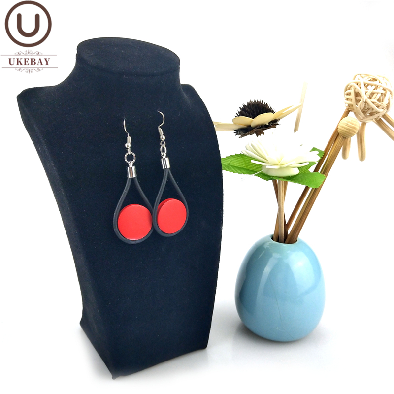 UKEBAY New Drop Earrings 2020 Fashion Designer Jewelry Women Korean Earrings Statement Wood Accessories Wedding Jewellery Boho