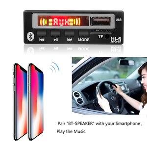 Image 4 - 5V 12V Mp3 décodeur Module de carte USB 3.5mm AUX Bluetooth FM Radio V5.0 récepteur sans fil 1 Din musique haut parleur voiture Kit