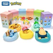 Figuras de pokemon genuínas brinquedos pikachu jirachi eevee koala snorlax bulbasaur estrelado série sonho anime figuras modelo bonecas brinquedo