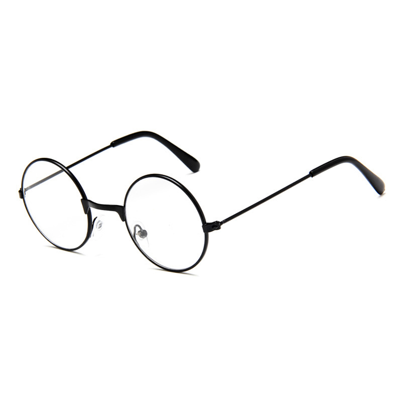 Retro round childrens metal flat glasses frame Decorative mirror wild cycle Eyewear