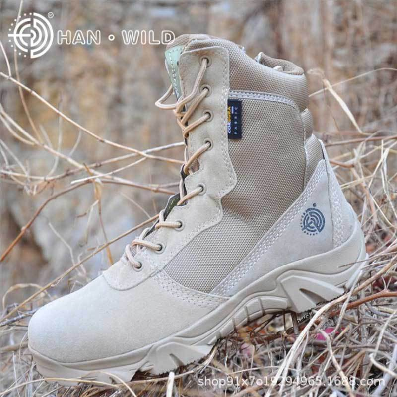 Hot Sales Culvert Wild Combat Boots Hight-top Desert Boots Tactical Boots Special Forces Celebrity Style Army Fans Combat Boots