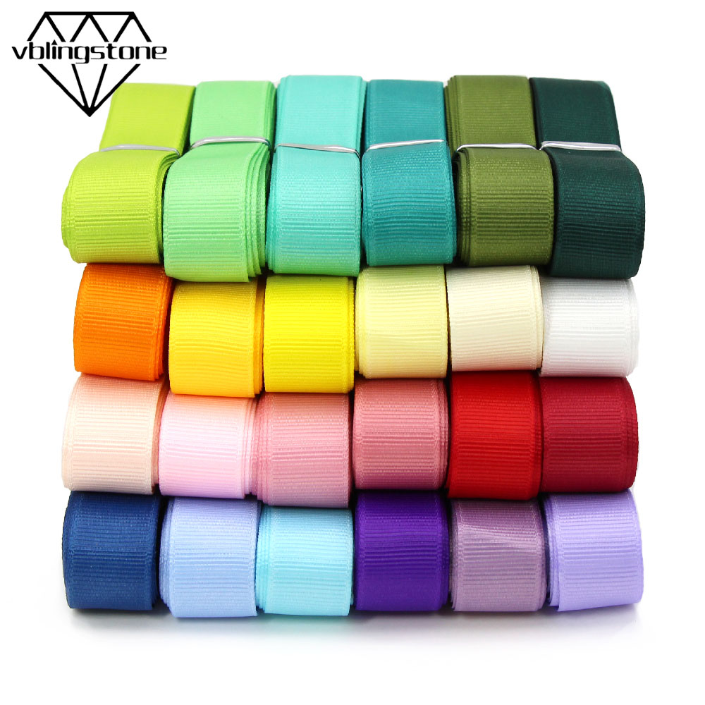 5M/lot 38 Colors Plain Grosgrain Ribbon For Crafts Solid Color Ribbon Gift Wrap Handmade DIY Hair Bows 6/10/15/20/25/38MM Tape