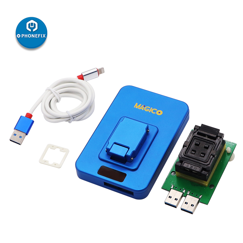 IP Magico Box V2 NAND PCIE High Speed Programmer Photosensitive Repair Connector IP BOX 2th Upgrade for Iphone 7P 7 6S 6p 5 Ipad