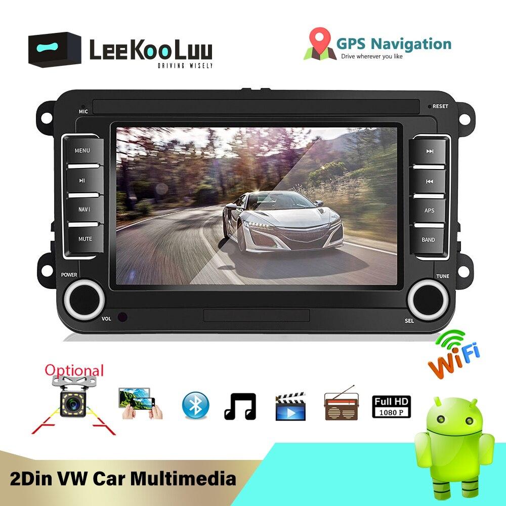 LeeKooLuu Android 2 Din Car Radio GPS No DVD for Volkswagen VW golf passat b6 Touran polo sedan Tiguan jetta Multimedia Player|Car Multimedia Player| |  - title=