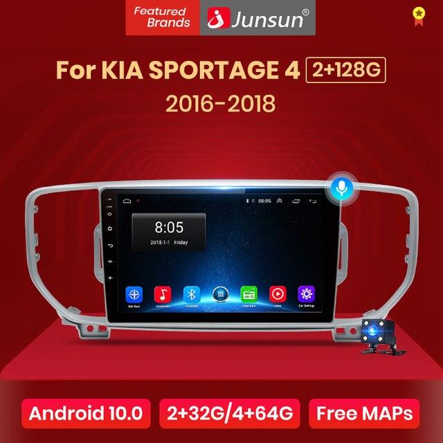 JunsunV1 2G + 32G Android 10.0 DSP samochód Radio odtwarzacz multimedialny nawigacja GPS dla KIA Sportage 4 KX5 2016 2017 2018 Audio 2Din dvd