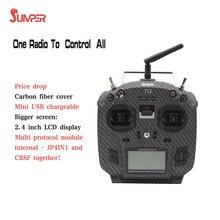 Jumper T12 Pro OpenTX transmisor de Radio recargable por USB, mando a distancia, JP4 in 1, multiprotocolo, 2,4 pulgadas, módulo de radiofrecuencia LCD, Frsky JR