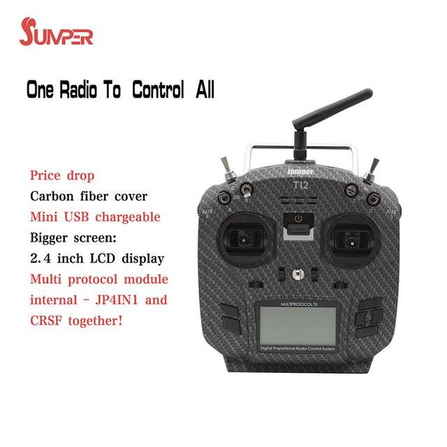 Jumper T12 Pro Opentx Usb Oplaadbare Radio Zender Afstandsbediening JP4 in 1 Multi Protocol 2.4Inch Lcd Rf Module Frsky jr