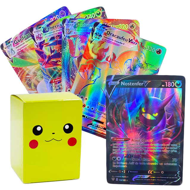 French Pokemon Card for Shining Game Battle Carte Game For Children Toy Featuring GX Vmax TAG TEAM EX MEGA V MAX